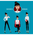 Set of business woman vector image vector image