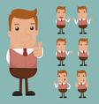 Set of businessman emotion vector image