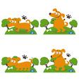 Set of happy cartoon dogs vector image