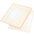 Sheets of empty papers vector image vector image