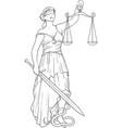 silhouette goddess themis vector image