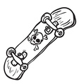 simple black and white skateboard isolated vector image vector image