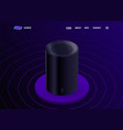 smart personal voice assistant - sound recognition vector image vector image