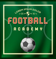 soccer football academy sport poster vector image