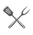 spatula isolated on white background vector image vector image