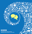 Speech bubble icons Think cloud symbols Nice set vector image vector image