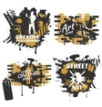 Street Art Compositions vector image vector image