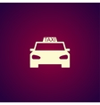 Taxi icon Flat design style vector image vector image