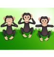 three wishes monkey vector image vector image