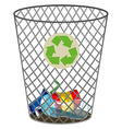 Trashcan for recycle waste vector image vector image