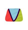 v letter logo in kids paper applique style vector image vector image