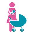 woman pictogram cartoon vector image vector image