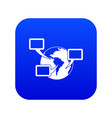 world planet and speech bubbles icon digital blue vector image vector image