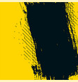 yellow and black abstract grunge messy texture vector image vector image