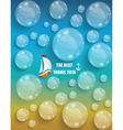 Transparent water drops background vector image