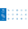 15 goal icons vector image vector image
