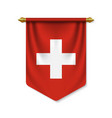 3d realistic pennant with flag vector image