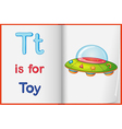 A picture of a toy on a book vector image vector image