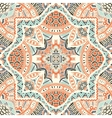 Abstract geometric mosaic vintage ethnic vector image vector image