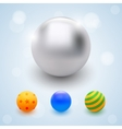 Abstract multicolored balls celebrate beads vector image