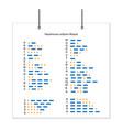 alphabet morse ukrainian code set of letters vector image