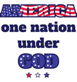 america one nation under god on white vector image vector image