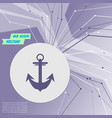 anchor icon on purple abstract modern background vector image