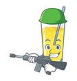 army lemonade character cartoon style vector image vector image