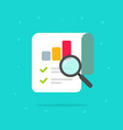 audit research report icon symbol flat vector image vector image