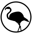 black and white sign flamingo vector image