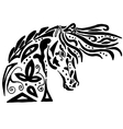 Black horse coloring or tattoo vector image vector image