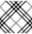 black white check pixel square fabric texture vector image vector image