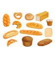 bread watercolor set for bakery shop design vector image vector image