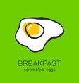 breakfast scrambled eggs vector image