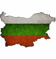 bulgaria map with flag inside vector image vector image