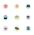 Burial icons set pop-art style vector image vector image