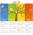 calendar for 2014 seasons vector image