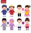 children world vietnam philippines brunei vector image vector image