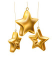 Christmas tree golden realistic toys set