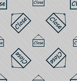 close icon sign Seamless pattern with geometric vector image