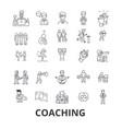 coaching sport coach mentor coach bus life vector image vector image