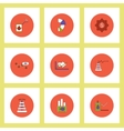 Collection of icons in flat style fuel and energy vector image vector image