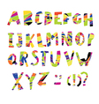 Colorful Alphabet Capital letters vector image vector image