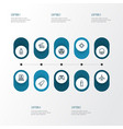 combat outline icons set collection of rip vector image vector image
