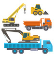 construction delivery truck transportation vector image