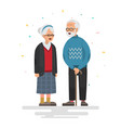 couple of elderly people vector image vector image