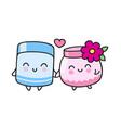 cute cream jars vector image