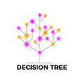 decision tree icon vector image vector image