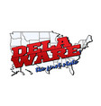 delaware state with us state on american vector image vector image