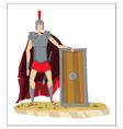 Digital tall roman legionnaire with armor vector image